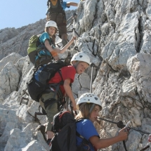 Klettertour in den Alpen